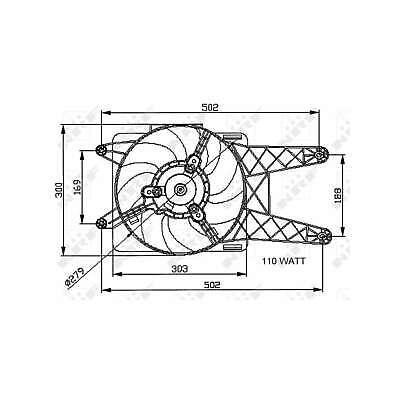 Genuine NRF Engine Cooling Radiator Fan - 47039