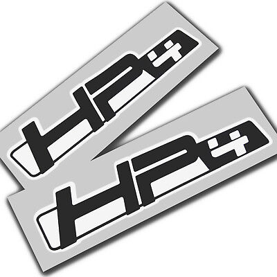 BMW HP4  S1000 RR   Motorcycle decals graphics stickers x 2 black on white