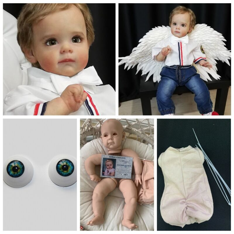 Unpainted Reborn Baby Kits With Cloth Body Newborn Dolls Silicone Mold Kits Set