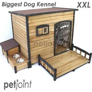 XXL Biggest Dog House Melbourne Greyhound Rottweiler Wood Kennel XXL