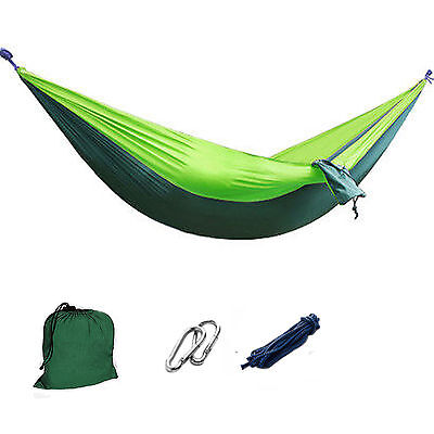 Outdoor Portable Parachute Nylon Fabric Hammock for Two Person Travel CampingGre