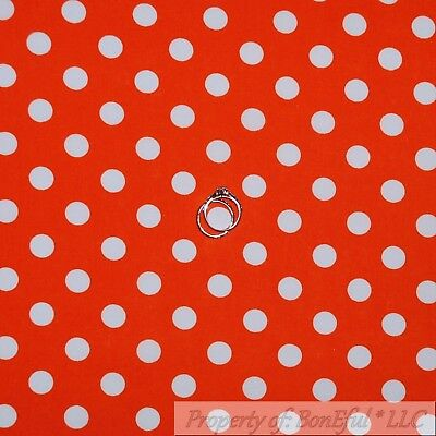 BonEful Fabric Cotton Quilt Orange White Pumpkin Dot Stripe Halloween Girl SCRAP