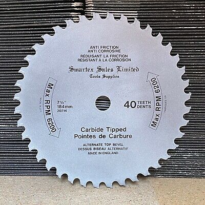 184mm X 16mm 40t Curved Tct Circular Saw Blade Fine Wood. None-stick Coating