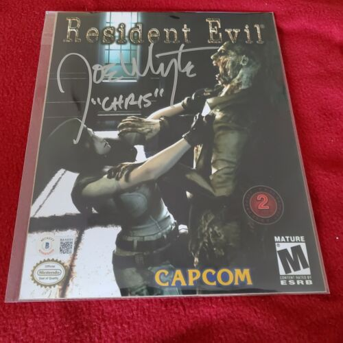 Joe Whyte Auto Signed Photo 8x10 Resident Evil Chris Redfield Horror video game