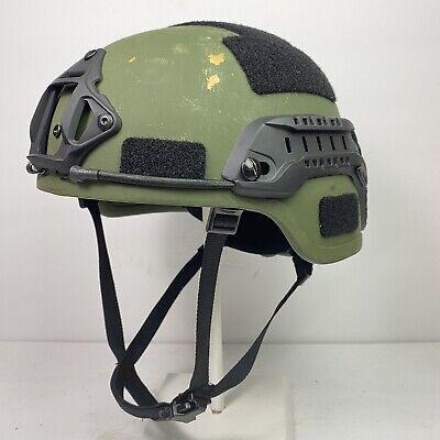 XL OD Green US Military Ballistic Advanced Combat Helmet ACH MICH MSA SWAT IIIA