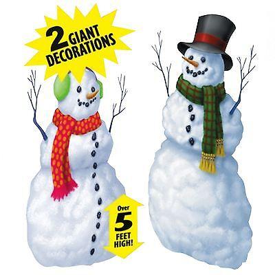 5ft High Giant Big Christmas Window Wall Snowman Scene Setter Vinyl Decoration
