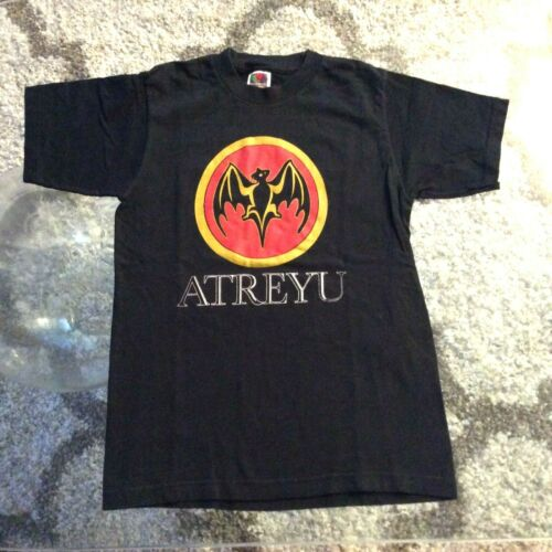Atreyu Bacardi Rum Logo Black Shirt Youth Kids Medium 10-12
