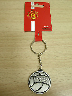 NEW Manchester United FC Official Metal Keyring(keychain) (KEY532)