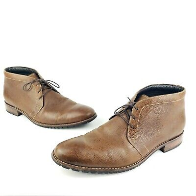 Cole Haan Chukka Boots Pebbled Leather 3 Eye Men's Size 13 M Waterproof Shoes  3 Eye Shoes Boots