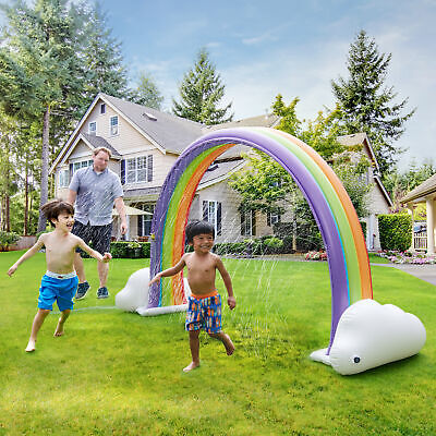 Teamson Kids  Water Fun Rainbow Inflatable Sprinkler  MultiColor TK48251R