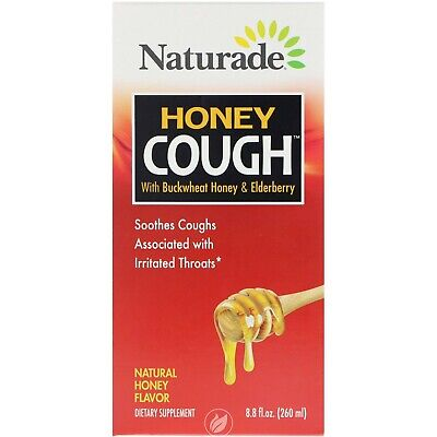Naturade Honey Cough Syrup with Buckwheat Honey & Elderberry 8.8 Ounce ()