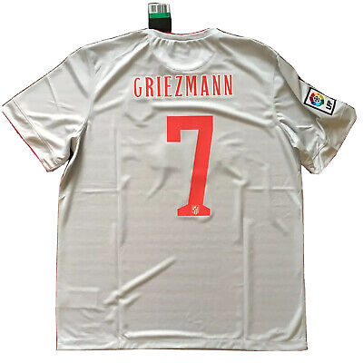 2014/15 Atletico Madrid Away Jersey #7 Griezmann XL Soccer Nike NEW image