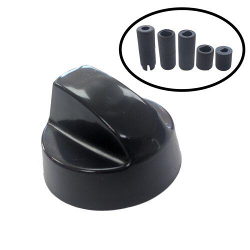 UNIVERSAL HYGENA /& DIPLOMAT Cooker Oven Hob Black CONTROL KNOB /& ADAPTORS