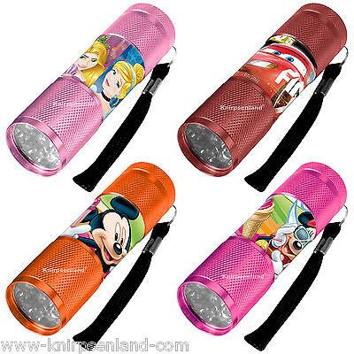 Disney Taschenlampe Alu LED Kinder Taschen Lampe Minnie Mickey Cars Princess (Kinder-taschenlampe)