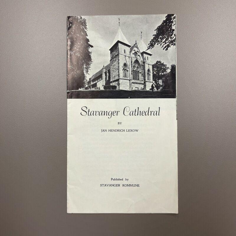 Stavanger Cathedral by Jan Hendrich Lexow Vintage brochure flyer Norway