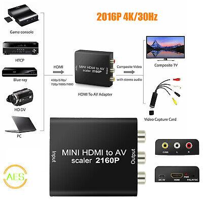 Compuesto 2016P HDMI a RCA Audio Video AV CVBS adaptador convertidor para...