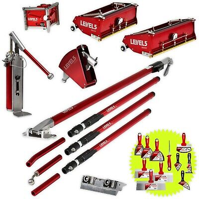 Automatic Drywall Finishing Set With 1012 Inch Flat Boxes Extension Handles