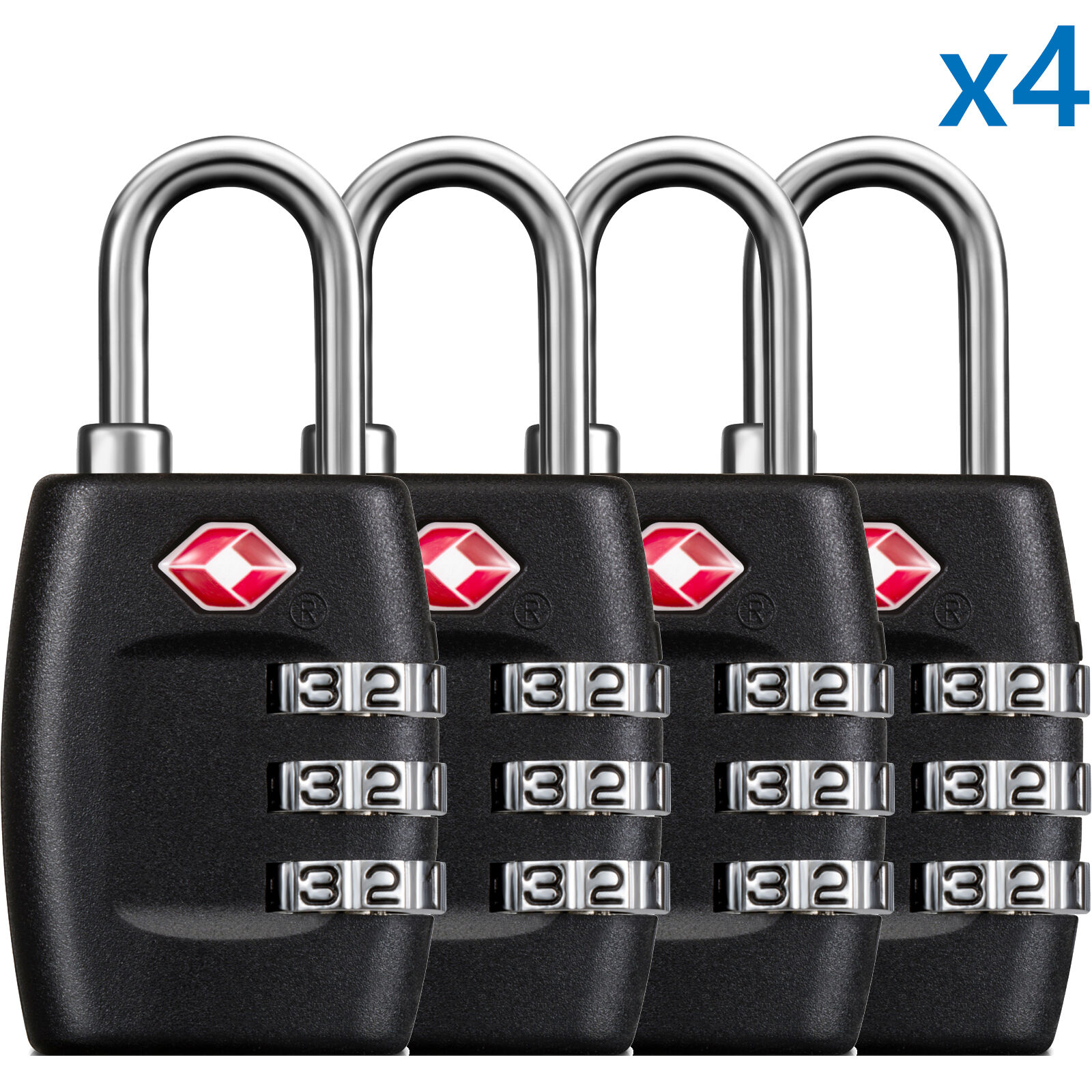 Купить BG USA - BG 4 x TSA Lock Travel Luggage 3 Digit Combination Resettable NEW TL01 (4 pcs)