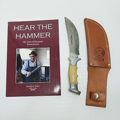 Vintage Ruana Knife New Sheath 1944 - 1962 Rare with Book Hear the Hammer