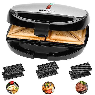 Sandwichera Gofrera Parrilla Grill Plancha 3 placas intercambiables termostato