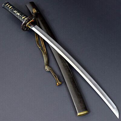 ANTIQUE NIHONTO JAPANESE KATANA SWORD WAKIZASHI NORINAGA 則長 signed w/KOSHIRAE NR