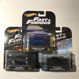 Hot wheels fast and furious retro series