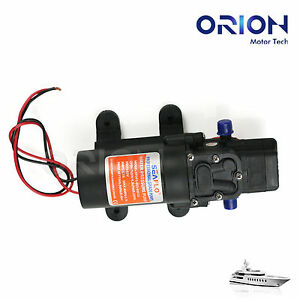 New RV Marine 12V DC 4.3L/Min 35 PSI Fresh Water Diaphragm Self Priming Pump