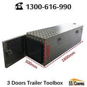 Aluminium 3 doors trailer toolbox L1800*W500*H500 Melbourne CBD Melbourne City Preview