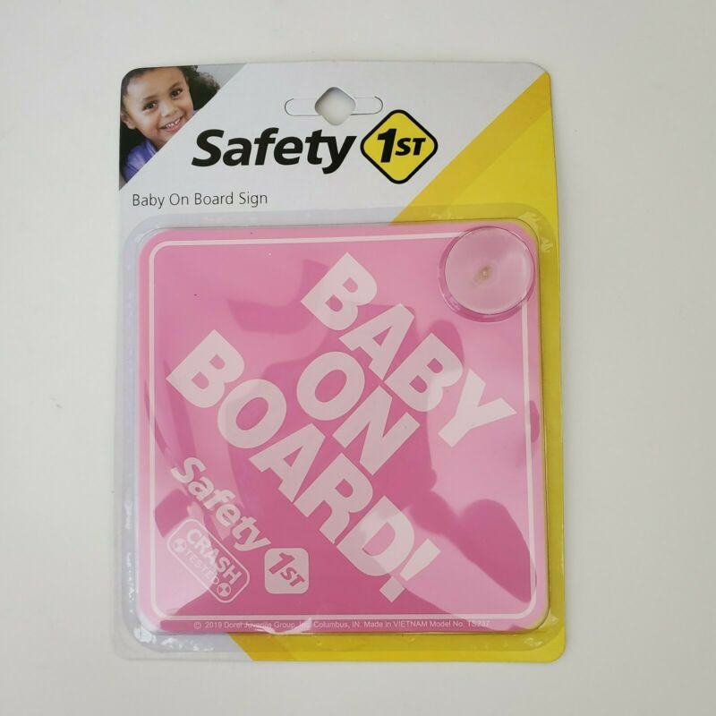 Safety 1st Baby On Board Sign Magnet For Car Baby Girl