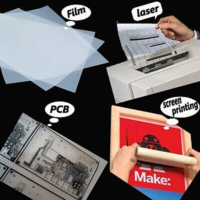 8.5in X 11ininkjet Laser Printing Transparency Film For Diy Pcb 75 Sheets