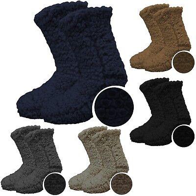 Herren Pantoffel Socke (Pantoffel - Socken mit ABS - warme Herren Hausschuhsocken mit Thermoplüsch 39-46)