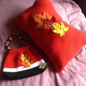 Pillow & Purses & Hat