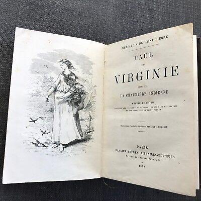 Paul et Virginie Bernardin de Saint-Pierre Paris 1869 Illustrierte  Nouvelle edt