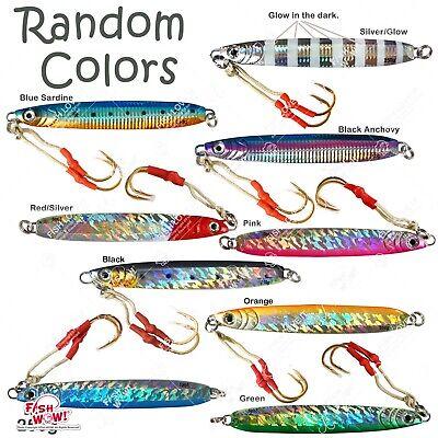 5pcs 9oz 250g Fishing Vertical Speed Knife Jig Fish Lure Random Colors butterfly