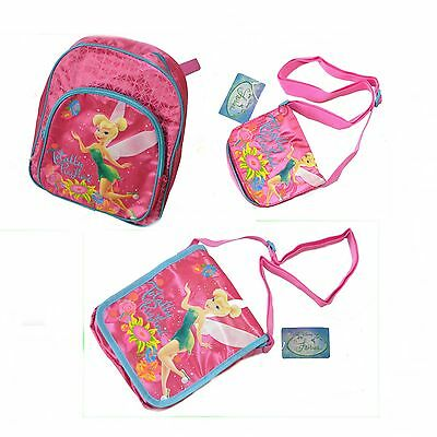 Mädchen Disney Tinkerbell Schultertasche Handtasche Umhängetasche Rucksack NEU