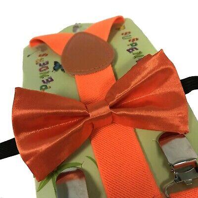 Neon Orange Suspenders (