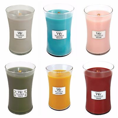 WoodWick Large Hour Glass Jar Candle 33 Scents Available