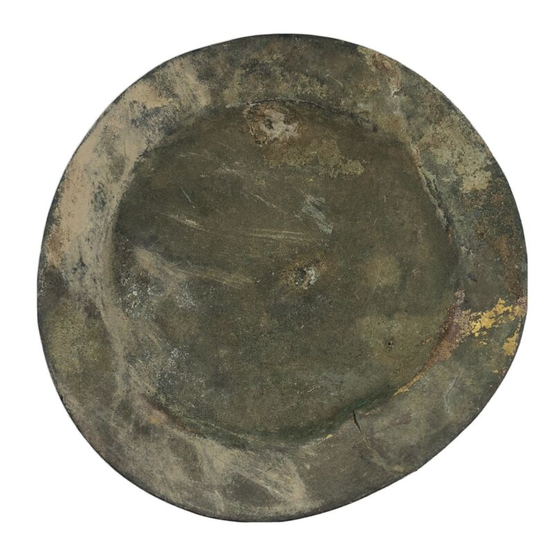 Rare Ancient Chinese Brass Dish - Ming Dynasty - 1368-1644 AD - Artifact Plate