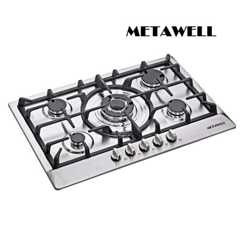"METAWELL 3KW 30"" GAS Stainless Steel Cooktop Stove Cook Top"