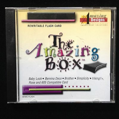 Amazing Box Re-writable Embroidery Card Fits Brother Babylock Viking #1+ Rose