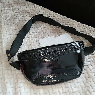 Stella McCartney Bum Bag Fanny Pack Black Patent NWT