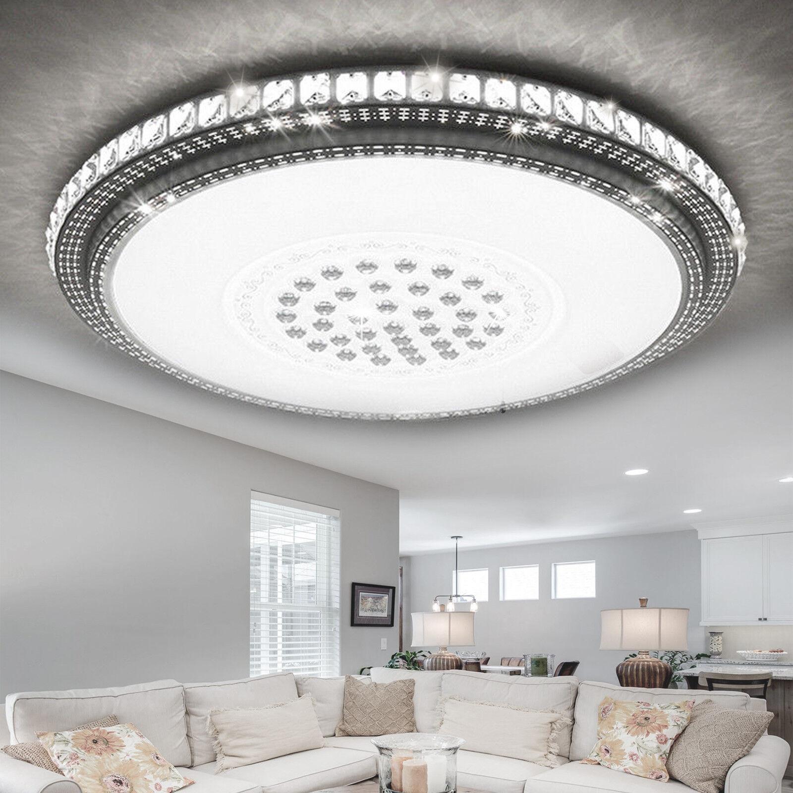 Led Deckenleuchte Luxus Kristall Sternhimmel Deckenlampe Dimmbar Wohnzimmerlampe Ebay