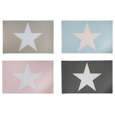 Stern Tischsets Platzdeckchen Platzset Untersetzer Star Kunststoff Abwaschbar