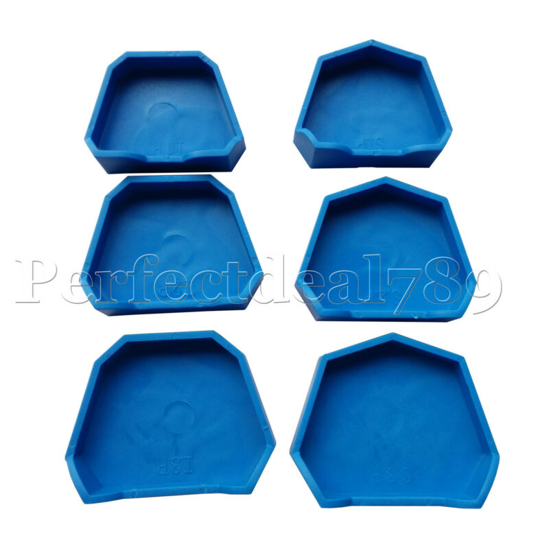Dental Model Lab Base Former Molds for Stone Tray Loading Assorted Set of 6 PD