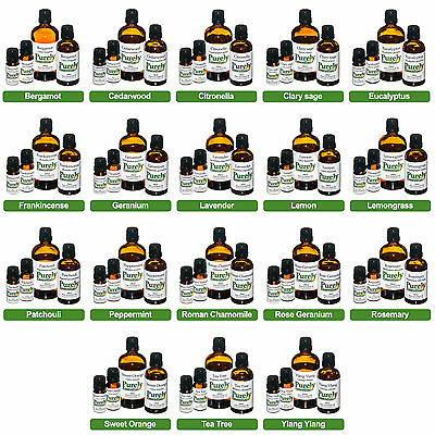 Essential Oil 5ml 10ml 50ml 100ml 100% Pure & Natural oils inc Lavender Tea Tree