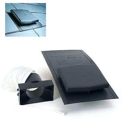 10K Slate Roof Vent Tile Ventilator & Adapter Kit for Soil Pipe ,Extractor fans