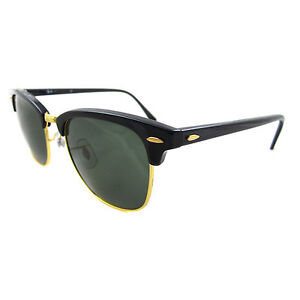 7d7a7be373 Original Ray-Ban Clubmaster Black Gold G-15 Sunglasses RB 3016 W0365 ...