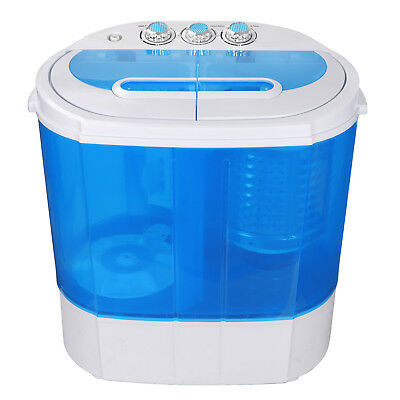Top Load Compact Twin Tub Wash Machine Blue Body W/ Timer 9.9lbs Capacity