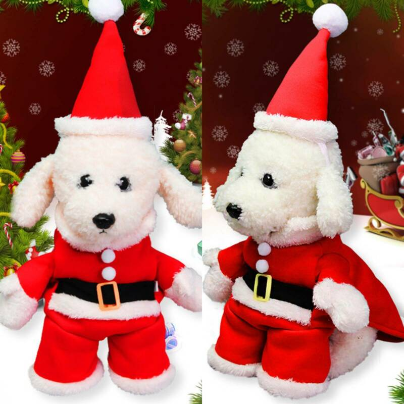 Christmas Pet Small Puppy Dog Cat Santa Claus Cape Coat Costume Outfit Cosplay 2