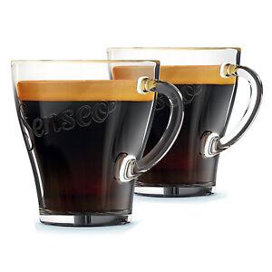 PHILIPS SENSEO Coffee Cup Handle Espresso Glasses Shot Glass Cups 125mm x 2